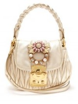 MIU MIU Coffer gold mattelassé leather cross-body bag. LUXE HANDBAG
