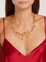 OSCAR DE LA RENTA Constellation crystal-embellished necklace ~ celestial statement jewellery