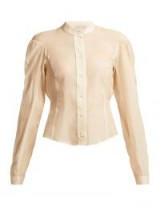 LEMAIRE Cotton and silk-blend panelled blouse ~ Edwardian style clothing ~ vintage look