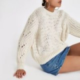 River Island Cream chunky knit jumper | oversized neutral knits