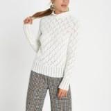 River Island Cream knit turtle neck jumper | neutral knits