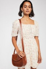 FREE PEOPLE Dandelion Mini Dress Ivory / vintage style floral prints