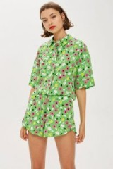 Topshop Ditsy Print Shirt in Green by Boutique | retro floral prints