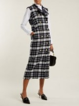 THOM BROWNE Double-breasted tweed dress ~ chic checks