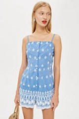 Topshop Embroidered Playsuit | holiday fashion