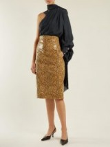 HILLIER BARTLEY Faux-python pencil skirt ~ reptile prints