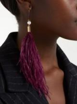 HILLIER BARTLEY Burgundy Feather single earring charm