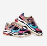 ego Flagship Chunky Trainer In Multi Colour – sports luxe – glittering colourblock sneakers
