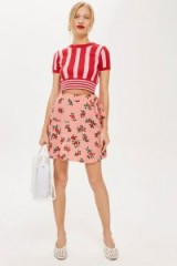 Topshop Floral Blossom Mini Skirt in Pink | vintage style summer fashion