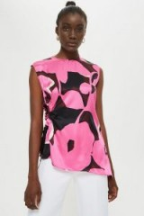 TOPSHOP Floral Cut Out Top by Boutique in Pink / bold prints