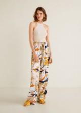 Mango Flower print trousers – floral silk pants