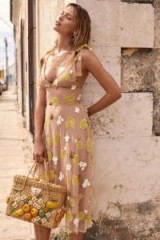 FOR LOVE & LEMONS FRUITPUNCH MIDI DRESS