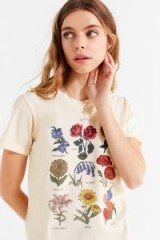 Future State Flower Chart Tee Cream – floral print t-shirt