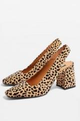 Topshop Gainor Slingback Shoes in True Leopard | animal print slingbacks