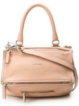 GIVENCHY medium Pandora bag powder. PALE PINK PEBBLED LEATHER HANDBAG