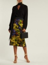 DOLCE & GABBANA Grape-print cady midi skirt ~ beautiful Italian clothing
