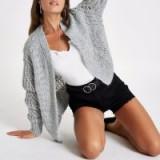 River Island Grey knitted cardigan | stylish knits