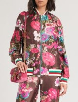 GUCCI Reversible floral-print silk-twill bomber jacket pink multi – bold flower prints