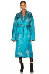 HAIDER ACKERMANN Blue Jacquard Peignoir Coat