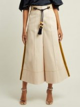 PETER PILOTTO High-rise wide-leg cream twill trousers ~ evening culottes
