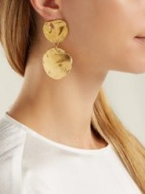 ALIGHIERI Il Fuoco gold-plated mismatched earrings ~ bold ancient style jewellery ~ large coin medallions