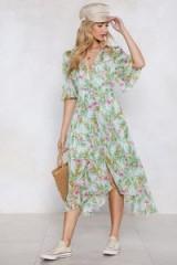 Nasty Gal I'm Pollen Your Leg Floral Dress | green summer frock