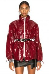 ISABEL MARANT Enzo Jacket burgundy / red high-shine jackets