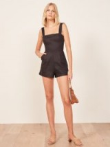 Reformation Island Jumpsuit in Black | square neck playsuits
