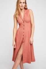 Endless Summer Isola Midi Dress in Canyon Flower | sleeveless front button summer frock