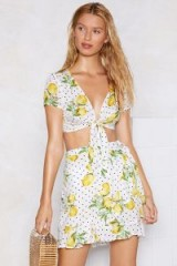 Nasty Gal Juiced in the Nick of Time Lemon Crop Top and Skirt | summer sets