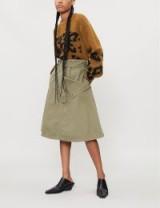 JW ANDERSON Pocket-panel cotton-drill skirt in khaki | utilitarian fashion