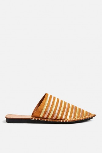 Topshop Kooper Pointed Mules in Tan