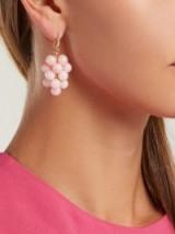 IRENE NEUWIRTH 18kt gold, diamond & pink opal drop earrings ~ fine statement jewellery