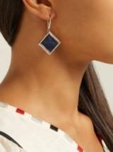 JADE JAGGER 18kt gold, diamond & sapphire earrings ~ luxe blue stone jewellery