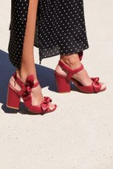 Bill Blass Layla Platform in Red / chunky sandals / vintage style glamour