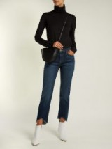 FRAME Le High straight-leg step hem jeans ~ dark blue denim