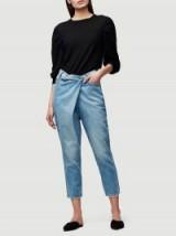 FRAME Le Overlap Jean in Jett | front wrap style crop leg jeans