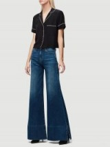 FRAME Le Palazzo Pant Slit IN Fisher Beach | 70s style jeans