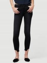 FRAME Le Skinny de Jeanne Crop Release Cut Hem in Micoy | black denim skinnies | cropped jeans