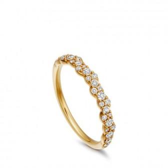 ASTLEY CLARKE Linia Interstellar Diamond Ring Yellow Gold | pavé set diamonds | stacking rings