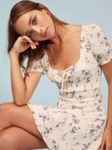 Reformation Linley Dress in Madeline | smocked floral print summer frock