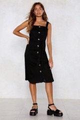 Nasty Gal Lose Control Button-Down Dress in Black | vintage style sundress