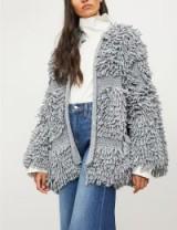 MIH JEANS Jesper knitted cardigan in grey | textured knitwear