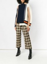 MIU MIU cropped plaid trousers / checked crop leg pants