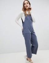 Monki Tie Strap Denim Dungarees in Blue | thin strap overalls