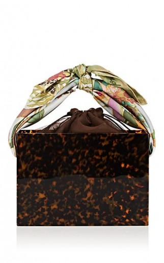 MONTUNAS Guaria Box Shoulder Bag ~ tortoiseshell acetate handbag