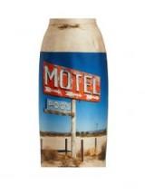 NO. 21 Motel-print duchesse-satin midi skirt | graphic prints