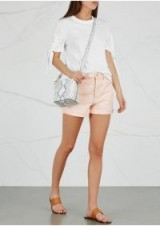 MOTHER The Improper Fray peach denim shorts ~ cool summer look