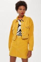TOPSHOP Mustard Corduroy Jacket – yellow cord