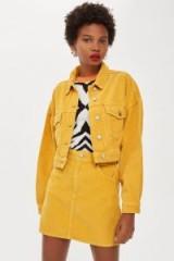 TOPSHOP Mustard Corduroy Skirt – yellow cord